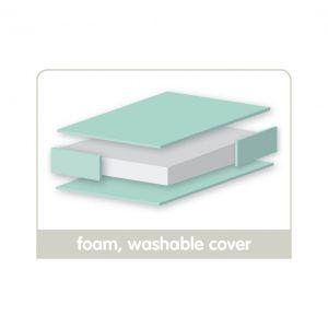 East Coast Cot Foam Mattress Washable Cover 120 X 60 cm
